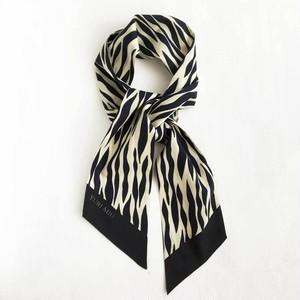 ツイリースカーフ|リップル・ブラック(コットン)