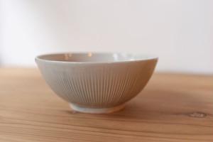 石田辰郎 白磁鎬中鉢