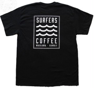 【SURFERS COFFEE】バックロゴ Tシャツ[BK]/ サーファーズコーヒー / ハワイアン / カフェ