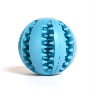 DOGGY BRO.(ドギーブロ) 天然歯磨きゴムボール/ブルー(M)