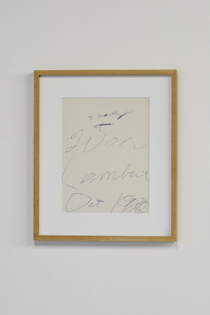 Cy Twombly / invitation print Yvon Lambert gallery 1980   額装済
