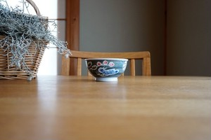 砥部焼/「青い鳥」お茶碗(小)/森陶房kaori