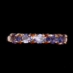 綺麗な5粒! タンザナイト リング 指輪 14号 アフリカ産
