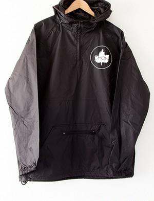 【CHON】Leaf Windbreaker (Black)