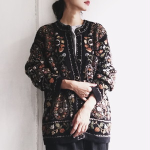 embroidery flower knit