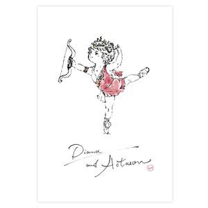 ポストカード*バレエシリーズ 「ディアナ&アクティオン」