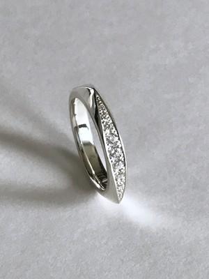 Triangle & CZ Ring(トライアングルリング石有り)