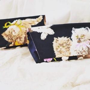 オリジナル猫柄 小ポーチ