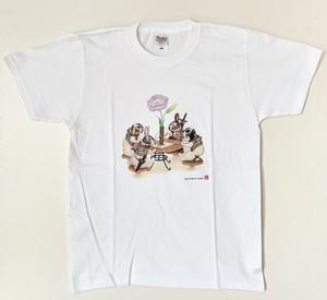 Tシャツ「うさぎカフェ」