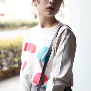 まるまる図形ロングスリーブTシャツ(3color)