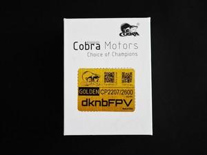 【単品】Cobra Motor CP2207 2600kv Golden Ver2
