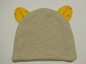 クマ耳ケア帽子(BG×YF)