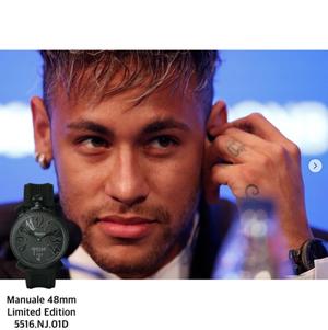 【GaGa MILANO】5516.NJ.01D/Manuale 48 限定ネイマールモデル(ブラック)/国内正規品 腕時計