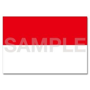 世界の国旗ポストカード <アジア>  インドネシア共和国 Flags of the world POST CARD <Asia> Republic of Indonesia