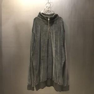 half zip pullover velours