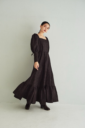 AIRY DRESS (brown)