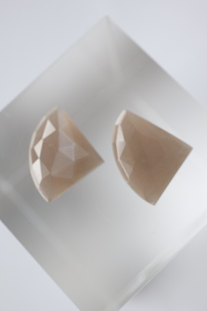 Faceted Moonstone Set  - 013