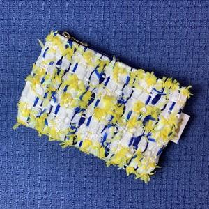 【3点のみ】ミニポーチ  chanel  tweed  yellow