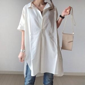 【トップス】シンプル不規則ロングTシャツ48943999