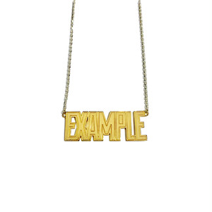 【限定受注販売】 EXAMPLE x GARNI EXAMPLE LOGO PENDANT GOLD TOP(BIG)