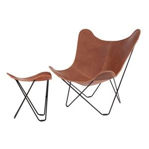 今だけPILLOW FOR BKFプレゼント! フットレストSET  cuero BKF Chair ブラウン