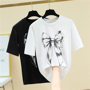 girly リボンプリントTシャツ c3637