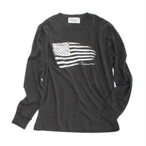 American Flag 【 ピグメントダイ ロンT 】BK