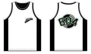 "604 ""Record Attack"" Basket Game Shirt (White&Black)"
