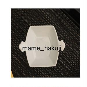 有田焼高級白磁 豆皿 つつみ