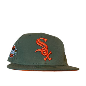 NEW ERA Chicago White Sox 2005 World Series 59Fifty Fitted / Olive×Orange (Orange Brim)