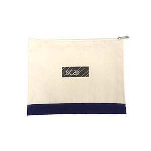scar /////// BLACK BOX TOOL POUCH (Medium) (Natural / Navy)