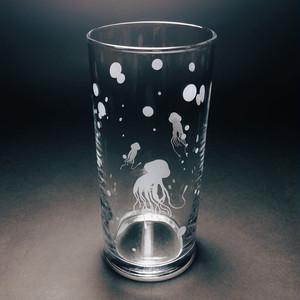 クラゲ クリア グラス タンブラー 300ml