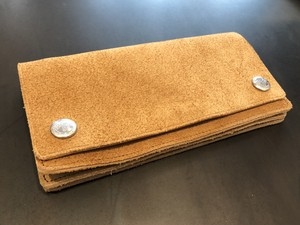 SUEDE BIKER WALLET