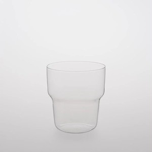TG glass (ティージーガラス) Glass cup curved (耐熱ガラス) 450ml
