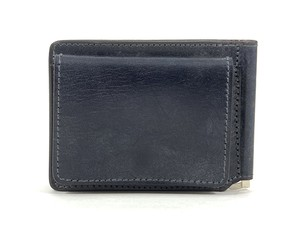 RE.ACT Bridle Leather Money Clip Wallet Navy