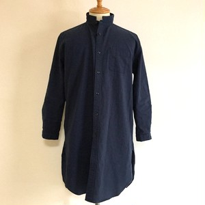Linen Blended Cotton Rome Shirt Coat Navy
