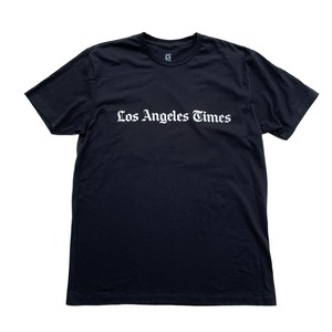 LA Times Masthead Tee - Black