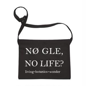Sacoche【NØ GLE, NO LIFE?】(black)