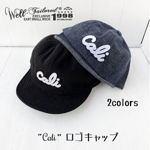 """Cali""ロゴ デニムキャップ【Well‐Tailored】"