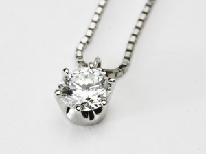 プラチナの6本爪のダイヤモンドヘッドリフォーム