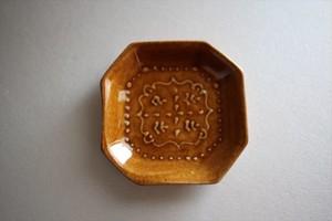 豊田雅代|豆皿スクエア 茶