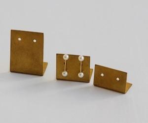 真鍮ピアススタンド BRASS素材 サイズ3種類各6個入り SI-303087
