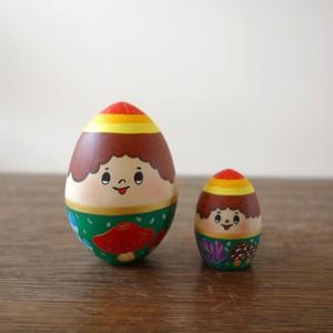 木製人形 2個組/たまごちゃん(きのこさん)/箱入り