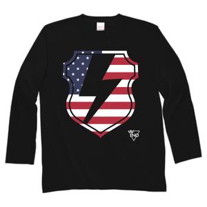 avenomix / THUNDER EMBLEM SLEEVE T-SHIRT BLACK x USA