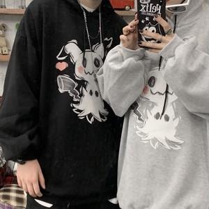 【トップス】韓国風カートゥーンゆったりカップルins大人気パーカー