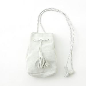 SUEDE SHOULDER BAG - OFF WHITE