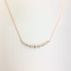 ダイヤモンドネックレスK18PG