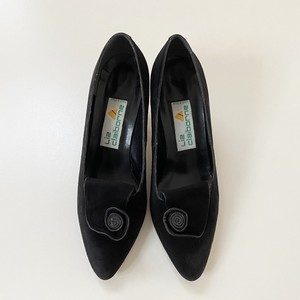 80's Vintage USA 【Liz Claiborne】Suede Pumps black アメリカ 80年代 ヴィンテージ【リズクレイボーン】スウェード パンプス 靴