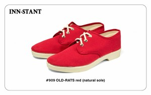 #909 OLD-RATS red (natural sole) INN-STANT インスタント 【消費税込・送料無料】