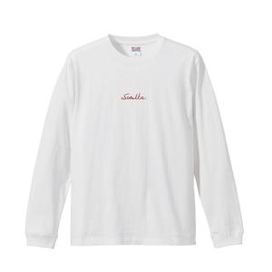 sumika / 刺繍ロング Tシャツ (ホワイト)